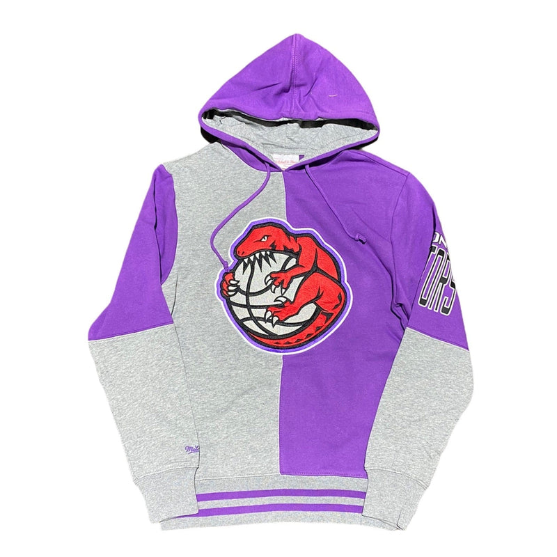 Mitchell & Ness Toronto Raptors Split Color Hoodie (Purple/Grey)