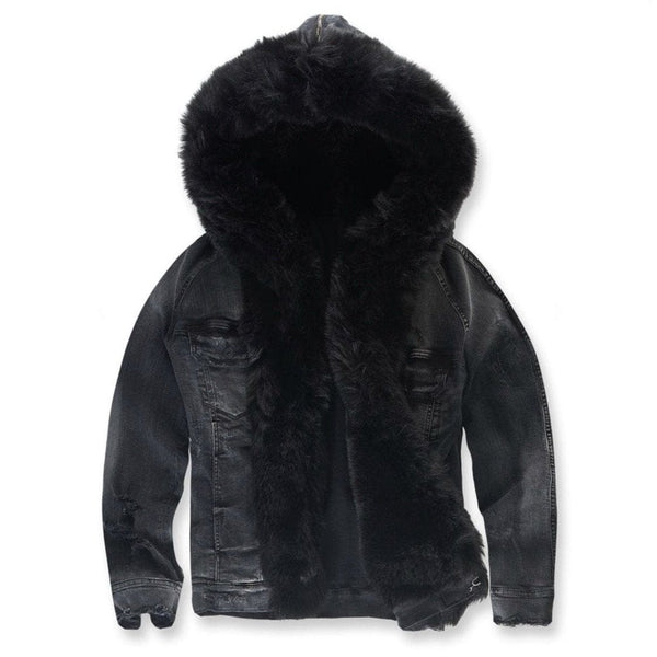 Jordan Craig Durango Hooded Denim Jacket (Noir)