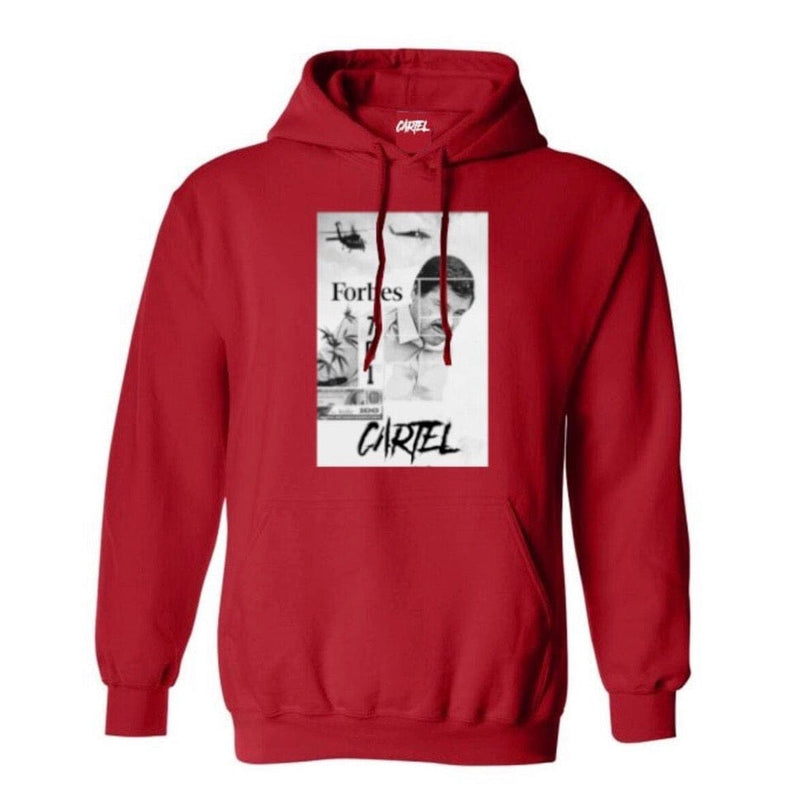 Cartel Chapo Forbes Hoodies (Red)
