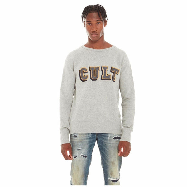 Cult Of Individuality Fleece W/ Collegiate Font (Heather Grey) 620A3-FC52C
