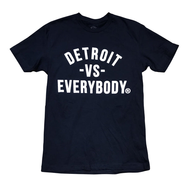 DETROIT VS EVERYBODY T-SHIRT NAVY/WHITE