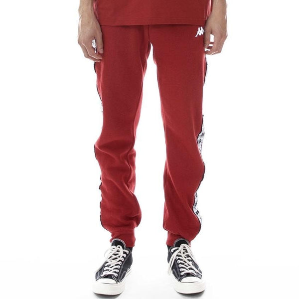 Kappa 222 Banda Dariis Reflective Sweatpant Red Grey