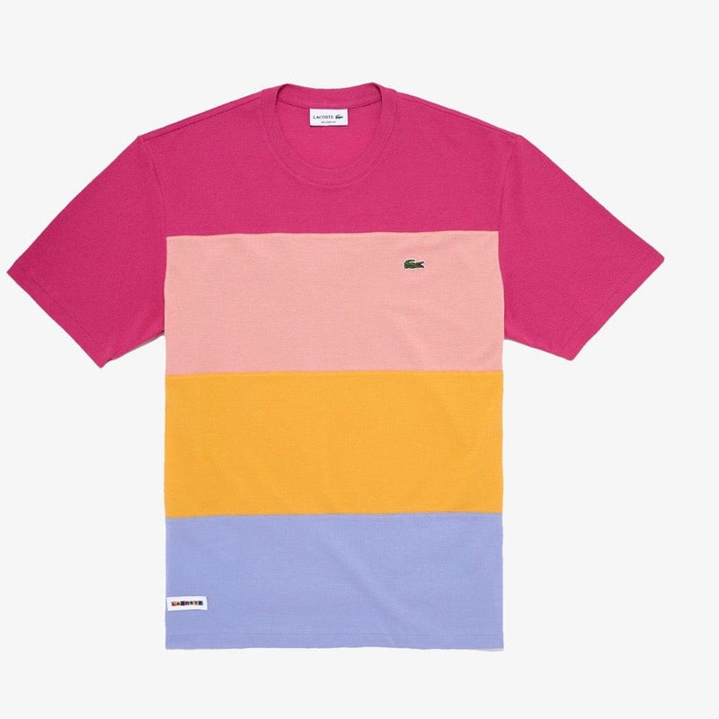 Lacoste Relaxed Fit Colorblock Lightweight Cotton Piqué T-shirt (Multi) TH5068