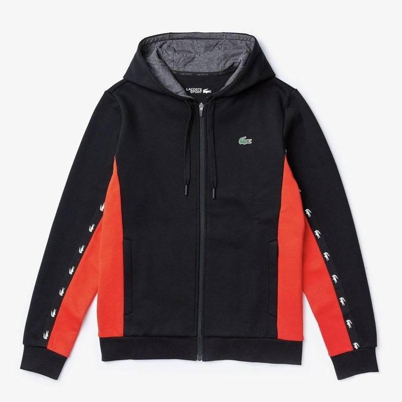Men's Sport Two-Tone Fleece Hoody Blk/Red