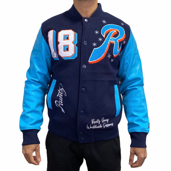 Runtz All County Varsity Jacket (Navy) 37344