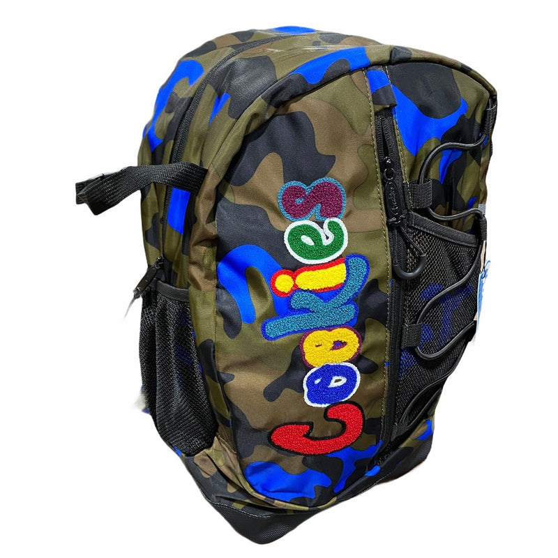 "Cookies Smell Proof ""The Bungee"" Nylon Backpack (Blue Camo)"
