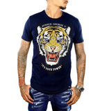 George V Tiger Face Tee (Blue/Gold) GV-2056
