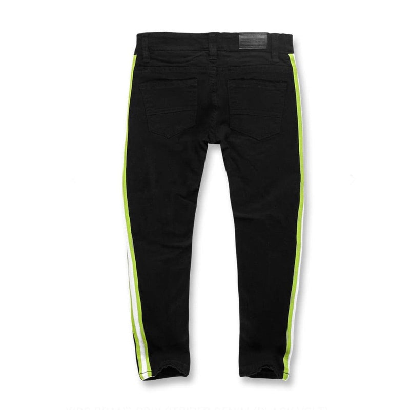 Kids Jordan Craig Grand Prix Striped Denim (Black Volt)