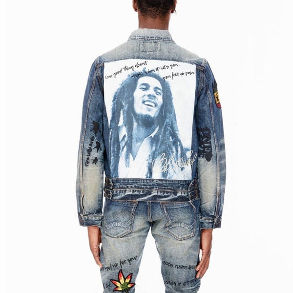 Cult Of Individuality Bob Marley Type III Denim Jacket (Shed)