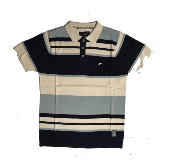 A.Tiziano Striped Polo Shirt