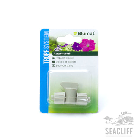 Tropf Blumat - Shut Off Valve - 8mm/8mm   - Seacliff Organics Living Soil Amendments New Zealand