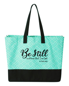 Be Still and Know -  Large Beach Tote