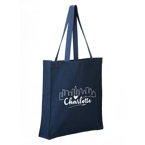 Charlotte Heart Skyline - Canvas Tote