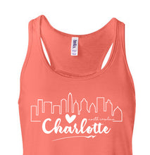 Load image into Gallery viewer, Charlotte Love Skyline - Ladies Tank Top
