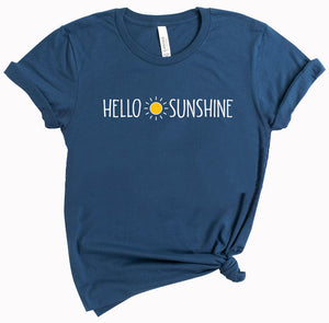 Hello Sunshine - ladies tee - Teal