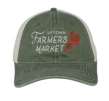 Load image into Gallery viewer, Hat - Uptown Farmers Market - Olive/Stone - Relaxed Mesh
