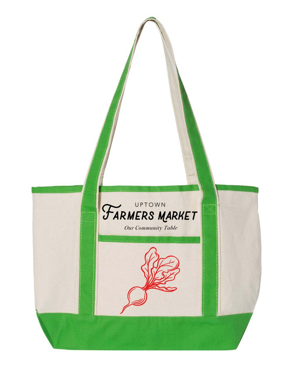 Uptown Farmers market - Tote Bag - 12oz Canvas Small Canvas Deluxe Tote