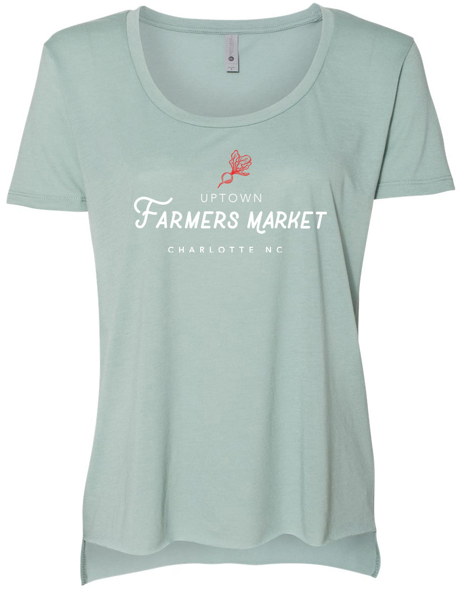 Uptown Farmers Market - Womens Festival Scoop - Stonewashed Green