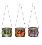 DIAMOND DECO HANGING TEALIGHT HOLDER TRIO