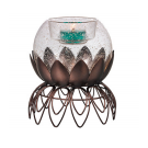 GLOW IN THE DARK GLASS ORB TEALIGHT HOLDER