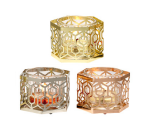 HONEYCOMB VOTIVE HOLDER TRIO
