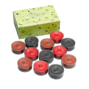PRETTY FLORAL 12-PIECE TEALIGHT CANDLE SAMPLER