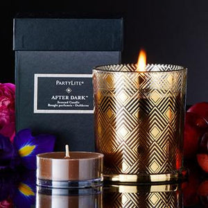 AFTER DARK™ AMBER SUEDE SCENTED JAR CANDLE