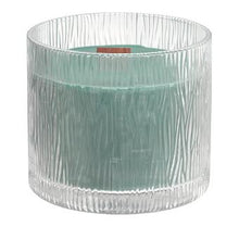 Load image into Gallery viewer, elight your senses with fragrance, beauty and the soft sound of crackling firewood in this Nature's Light candle with its wooden wick. Moss Birchwood fragrance lets you venture into the forest and discover the aromatic freshness of white birchwood combined with green moss and bronzed cypress crackling over an open fire.