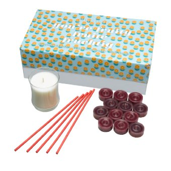 This pack contains a variety of Fruity fragrances in 3 unique forms. Contains 12 Mulberry tealight candles, 1 Iced Snowberries Escential Jar Candle, 5-pack of Winter Berries SmartScents Flameless Fragrance Sticks in a decorative box. Tealight burn time: 4-6 hours each. Escential Jar burn time: 40-60 hours. SmartScents fragrance duration: up to 30 days each.