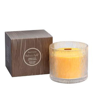 NATURE'S LIGHT™ AMBER APPLEWOOD JAR CANDLE