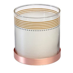 Enjoy the magical shimmer of GloLite technology in this scented jar candle that's perfect for seasonal entertaining.