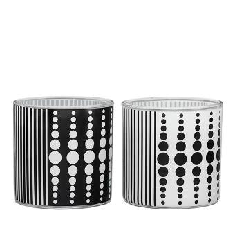 MONOCHROME JAR CANDLE SAMPLER, SET OF 2