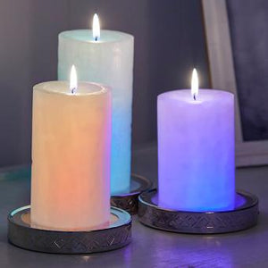 COLOR STOP CANDLE BASE – SET OF 3