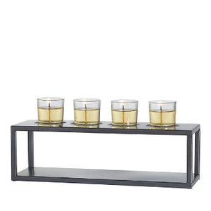 ELEVATED CANDLE HOLDER METAL CENTERPIECE