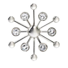 Load image into Gallery viewer, this metal magnet is decorated with irresistible Swarovski® crystals. Simply add fragrance to your diffuser, fix your stylish magnet and attach the car air freshener to your vent. Voila, stylish fragrance! Metal with Swarovski® crystals. For use with AromaPure™ Diffuser.