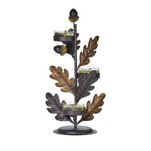 AUTUMNSCAPE 3-TEALIGHT CANDLE TREE HOLDER