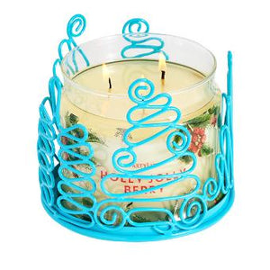 JOLLY TREES JAR CANDLE HOLDER