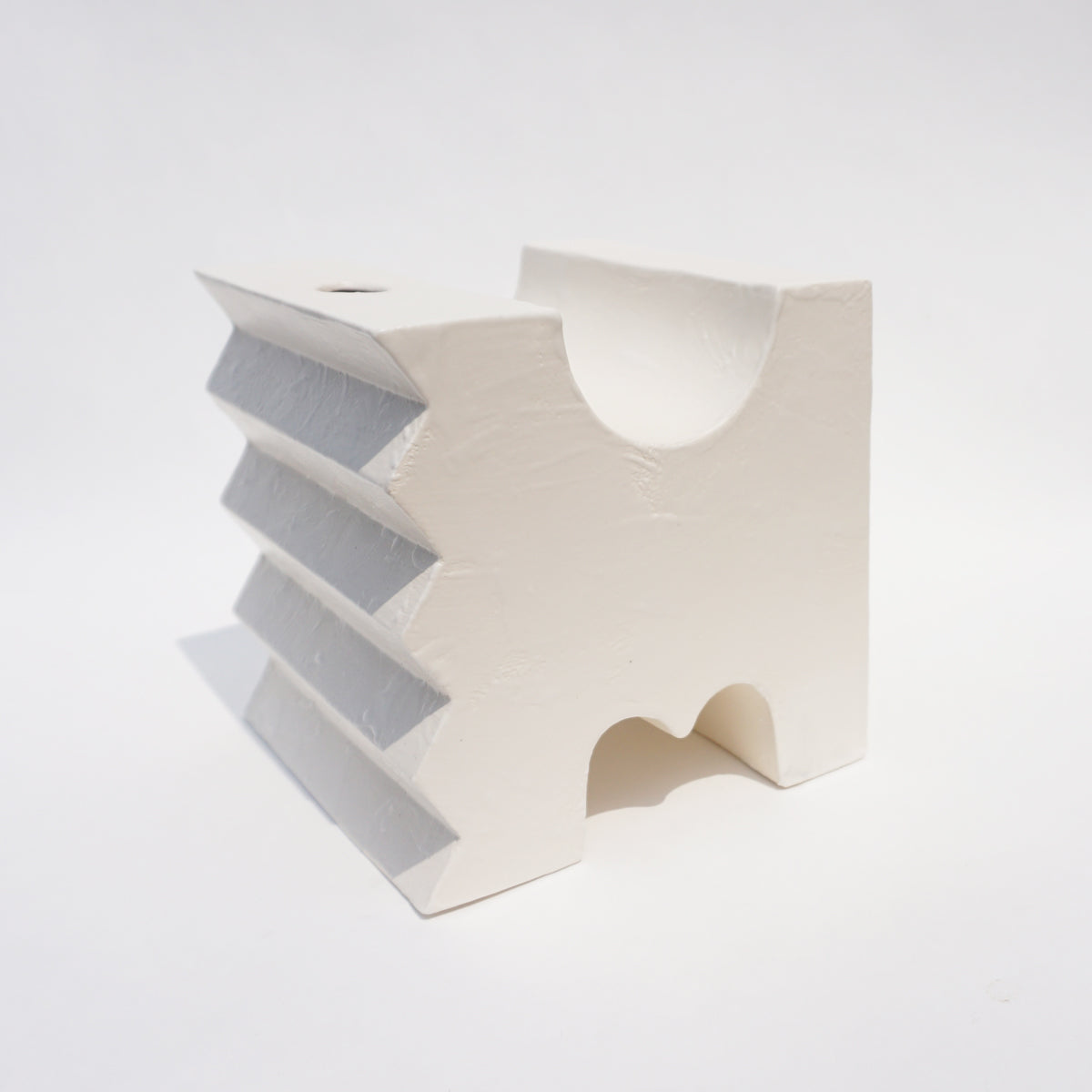 Bookend Vase Sharp — Matte White