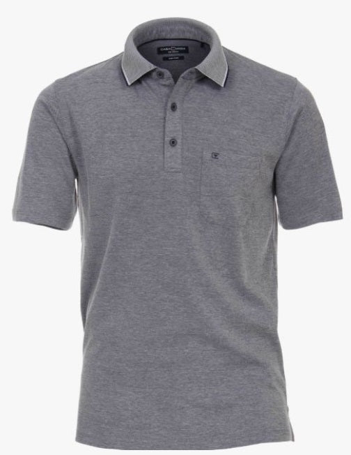 Casa Moda Polo Shirt - 105 Grey Dark Blue
