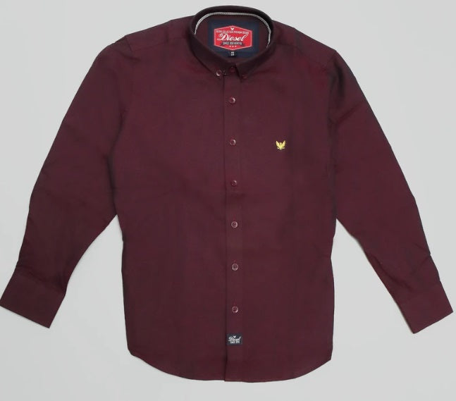 Boys Diesel Shirt - 770 Burgundy
