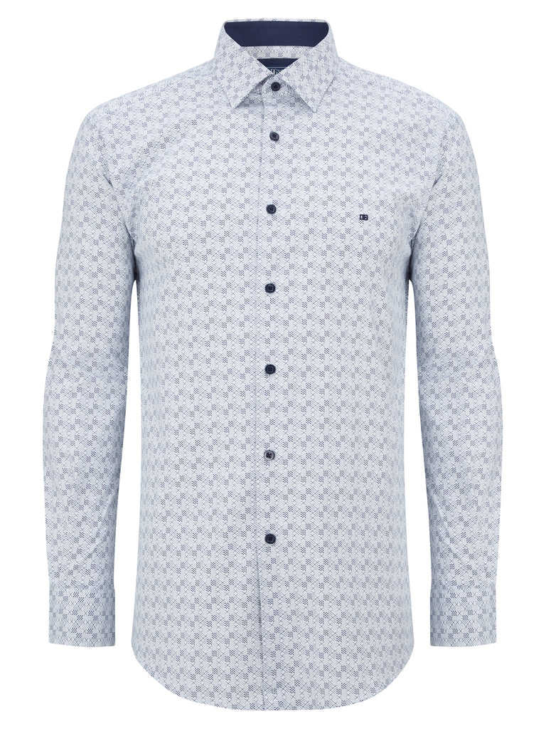 Daniel Grahame Long Sleeve Casual Shirt - White