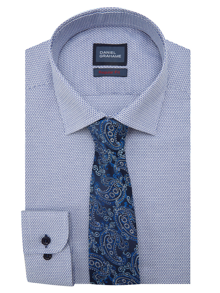 Daniel Grahame Geneva Long Sleeve Formal Shirt- Blue