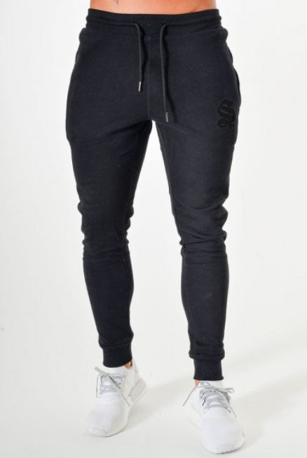 Sinners Attire Joggers Tracksuit Bottoms - Black