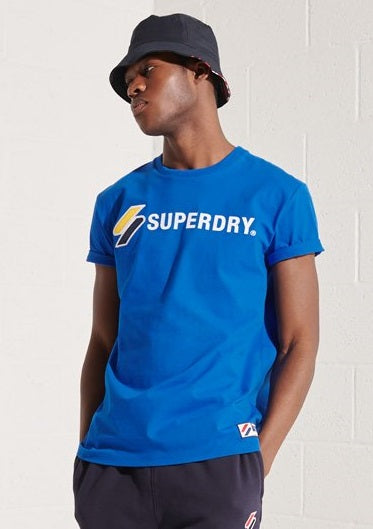 Superdry Sportstyle Applique T-Shirt - Royal