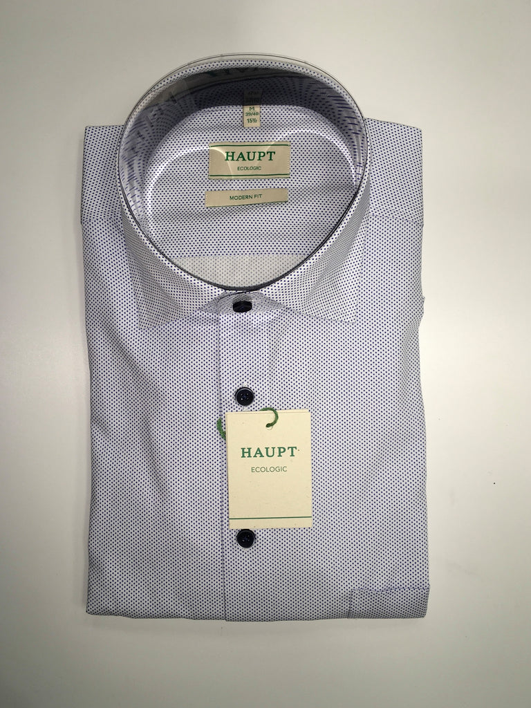 Haupt Ecologic Modern Fit Shirt - Blue/White
