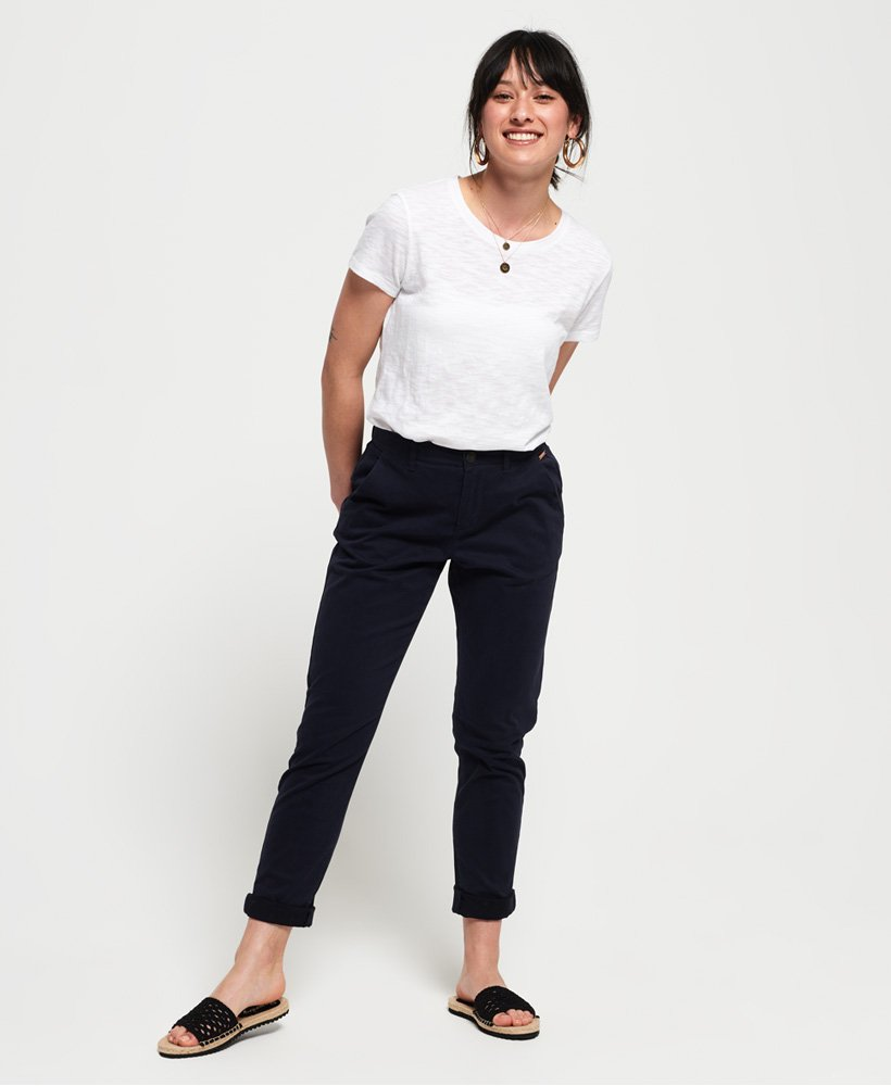 Ladies Superdry City Chino Pants - Midnight Navy