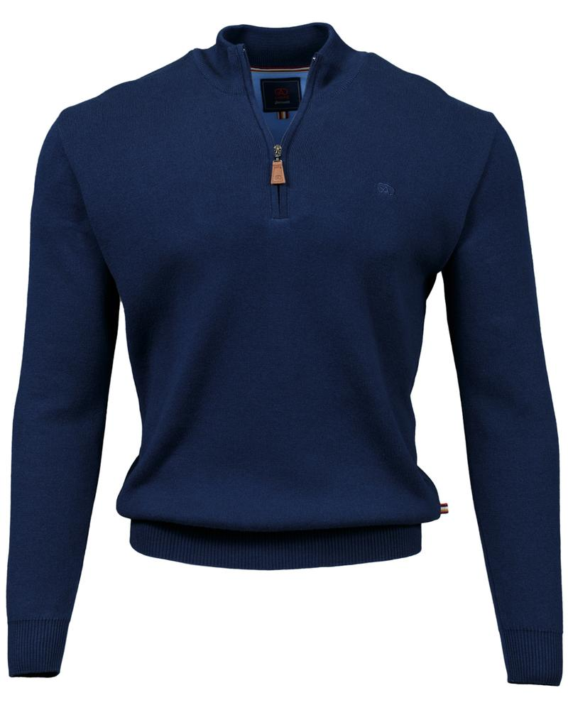 Andre Clifden Half Zip Sweater - Navy