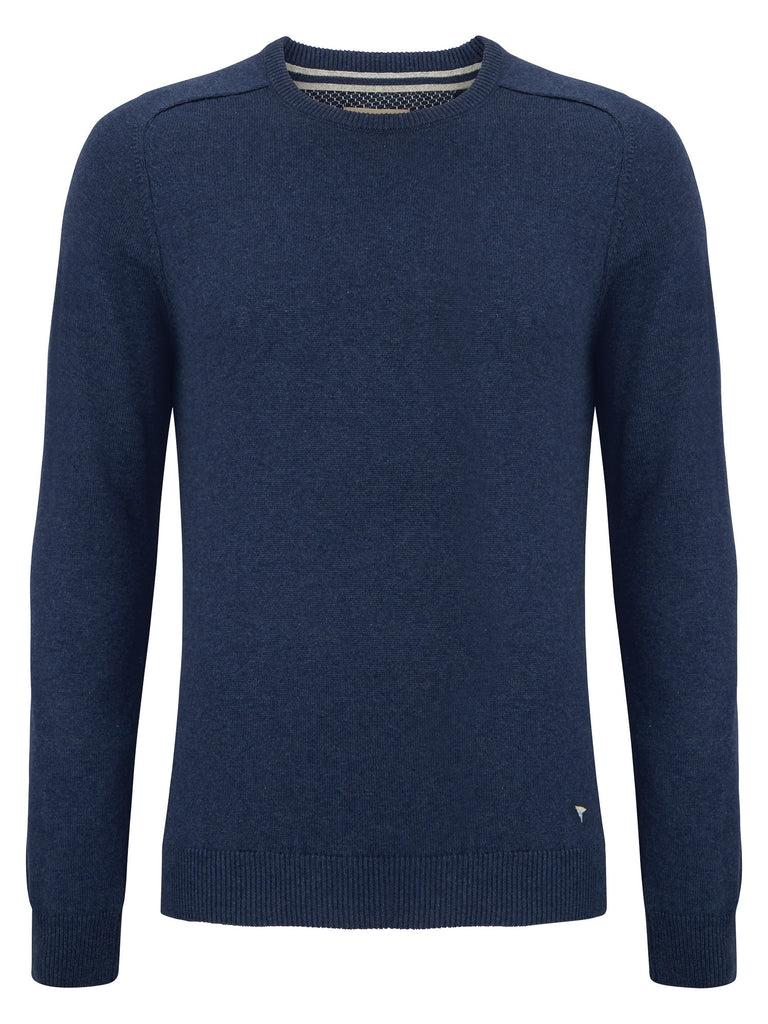 Daniel Grahame Crew Neck Sweater - Dark Blue