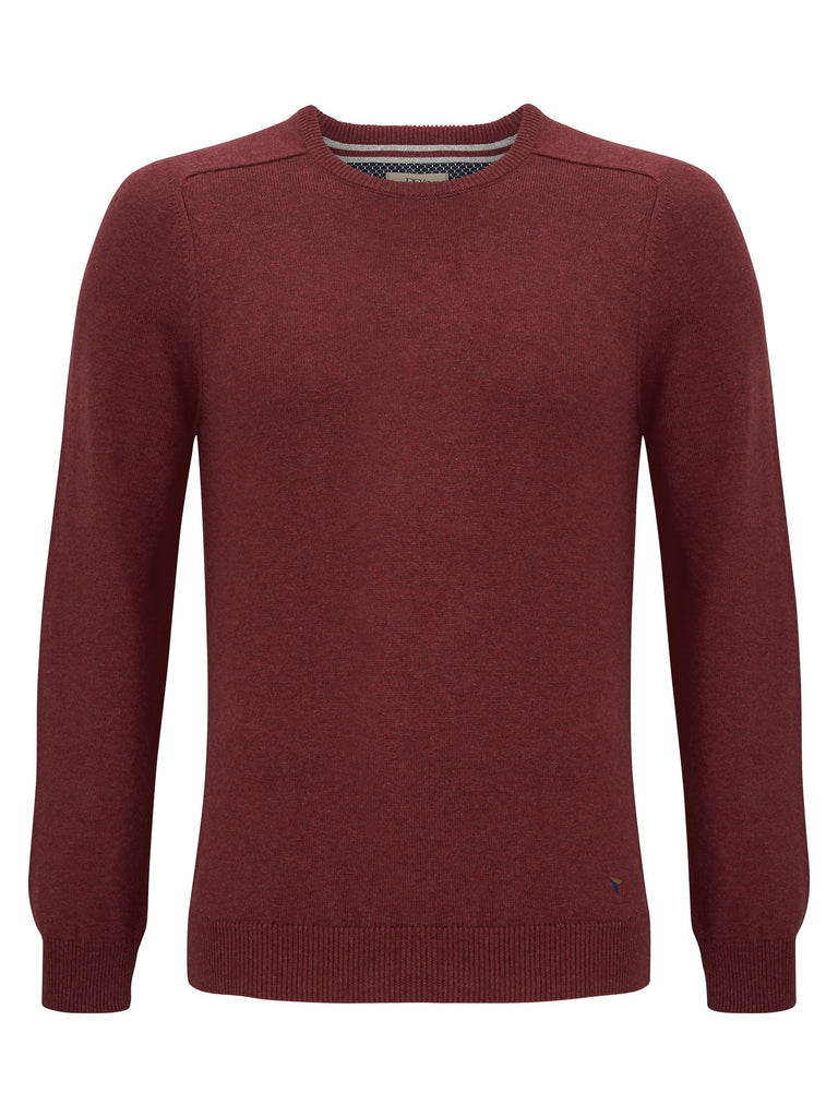 Daniel Grahame Crew Neck Sweater - Dark Red
