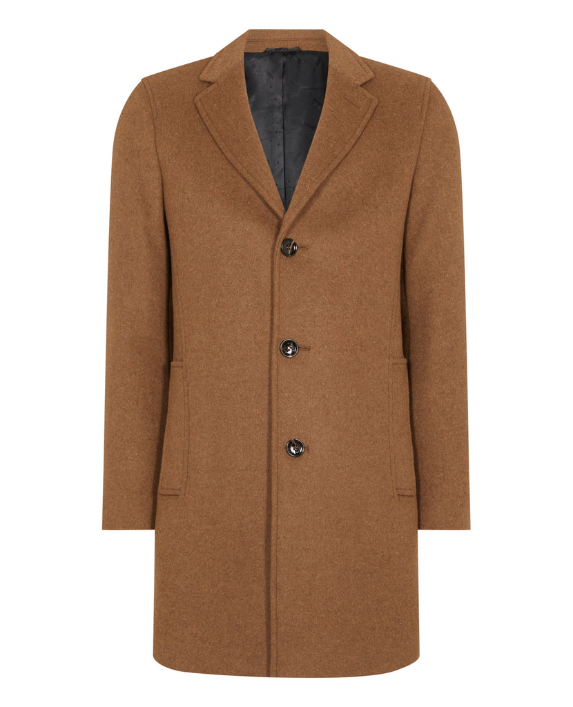 Remus Uomo Raeburn Tailored Coat - Dark Orange